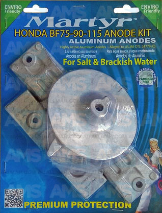 Honda Outboard 75-115 Anodes Kit Alloy